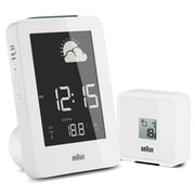 Braun Digital Weather Station Alarm Clock; White