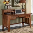 Home Styles Arts and Crafts Executive Writing Desk and Hutch; Cottage Oak