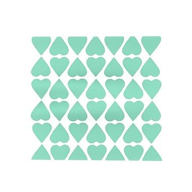 KESS InHouse Diamond Hearts Placemat; Mint