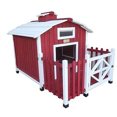Advantek The Country Barn Dog House; Red