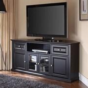 Crosley 60'' Corner TV Stand; Black