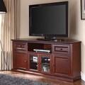 Crosley 60'' Corner TV Stand; Vintage Mahogany
