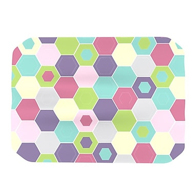 KESS InHouse Pale Bee Hex Placemat
