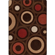 Milliken Mix and Mingle Chocolate in Focus Rug; 5'4'' x 7'8''