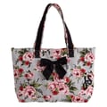 Jessie Steele Cottage Rose Lace Bow Tote Bag