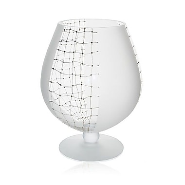 Womar Glass Web of Intrigue Brandy Glass