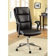 Hokku Designs Ravi High-Back Leatherette Office Chair with Arms