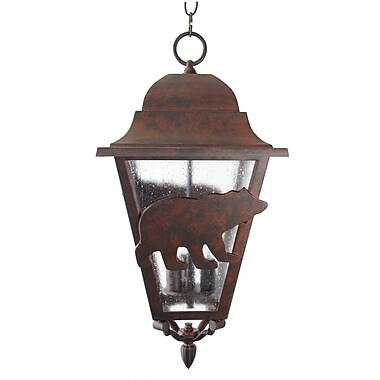 Melissa Americana 3-Light Outdoor Hanging Lantern; Aged Silver