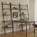 Jesper Office Jesper Office Parson Ladder Bookcases with Peninsula Desk; Walnut