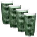 Kraftware Fishnet 24 Oz. Double Wall Insulated Tumbler (Set of 4); Hunter Green
