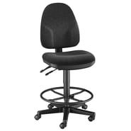 Alvin and Co. High Back Monarch Office Chair; Black