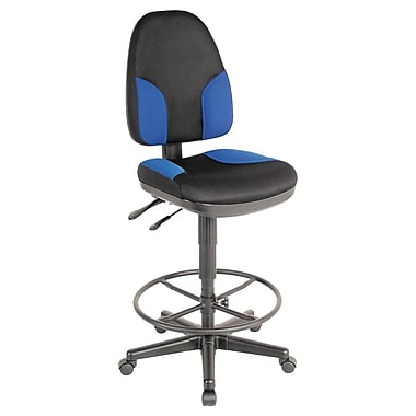 Alvin and Co. High Back Monarch Drafting Chair; Black and Blue