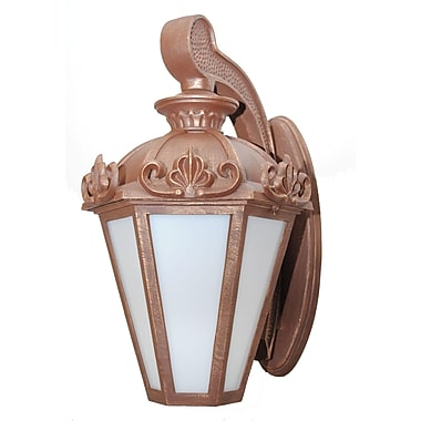 Melissa Parisian Elegance 3 Light Outdoor Wall Lantern; Architectural Bronze