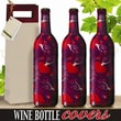 Kimco Products Fanciful Hearts Wine Bottle Cover (Set of 3)