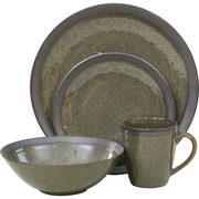 Sango Omega 16 Piece Dinnerware Set; Olive