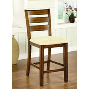 Hokku Designs Pristine 25.25'' Bar Stool with Cushion (Set of 2)
