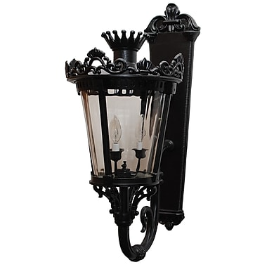 Melissa Tuscany 3 Light Outdoor Sconce; White