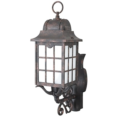 Melissa 600 Series 1-Light Outdoor Sconce; Rusty Nail