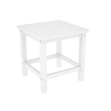 POLYWOOD Adirondack Side Table; White