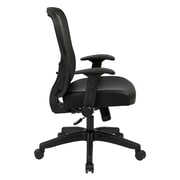 Office Star Space 28'' Back Chair with Eco Leather Seat and Flip Arms