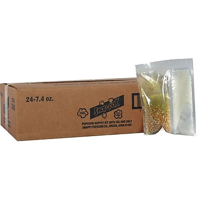 Snappy Popcorn 7.4 oz Snap Paks Caramel Glaze Yellow Popcorn (Set of 24) WYF078275610382