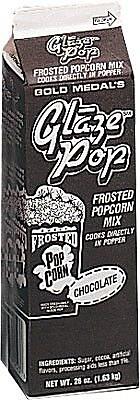 Snappy Popcorn 28 oz Gold Medal Glaze Pop; Chocolate WYF078275610439