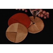 Pacific Table Linens Luscious Silk Wine Glass Coaster (Set of 2); Noir