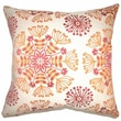 The Pillow Collection Jamesie Floral Cotton Pillow; Flame