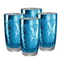 Artland Brocade Highball Glass in Blue (Set of 4)