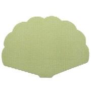 Kraftware Fishnet Shell Placemat; Mist Green