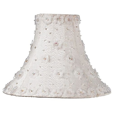 Jubilee Collection 10.25'' Silk Bell Wall Sconce Shade; White