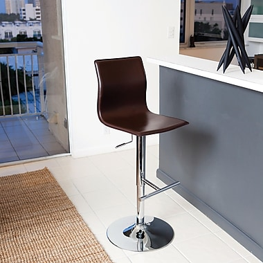 Matrix Klub 22'' Adjustable Swivel Bar Stool; Brown