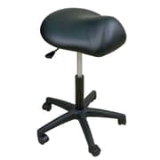 Oakworks Height Adjustable Premium Saddle Stool; Espresso