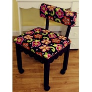Arrow Sewing Cabinets Sewing Chair with Underseat Storage; Black