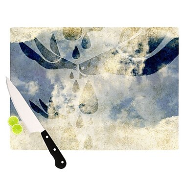 KESS InHouse Doves Cry Cutting Board; 11.5'' H x 8.25'' W x 0.25'' D