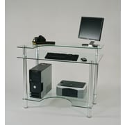Tier One Designs 43'' W Glass Computer Desk