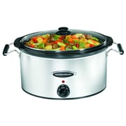 Hamilton Beach 7 Quart Slow Cooker; Black/Silver