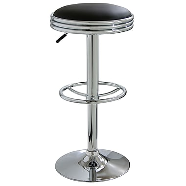 Buffalo Tools Soda Fountain 23.5'' Adjustable Swivel Bar Stool with Cushion