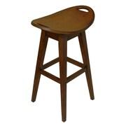 Carolina Accents Thoroughbred Adjustable Height Swivel Bar Stool; Cherry