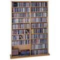 Leslie Dame Deluxe Multimedia Storage Rack; Oak