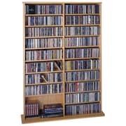 Leslie Dame Deluxe Multimedia Storage Rack; Oak