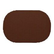 Kraftware Fishnet Placemat (Set of 12); Chocolate