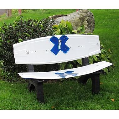 Ski Chair Wake Board Recycled Plastic Garden Bench; White Hipetlite