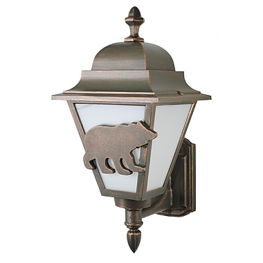 Melissa Americana 1 Light Outdoor Sconce; Old World