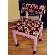 Arrow Sewing Cabinets Sewing Chair with Underseat Storage; Pink