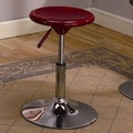 InRoom Designs Adjustable Bar Stool (Set of 5); Mahogany