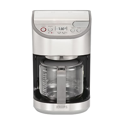 Krups Precision 12 Cup Carafe Coffee Machine; Stainless Steel