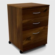 Nexera 3-Drawer Mobile File Cabinet; Truffle