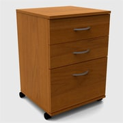 Nexera 3-Drawer Mobile File Cabinet; Cappuccino