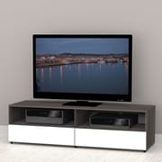 Nexera Allure 60'' TV Stand; White and Ebony